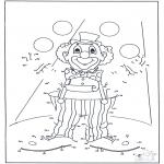 Bricolage coloriages - Points à relier 54