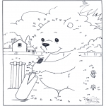 Bricolage coloriages - Points à relier 75