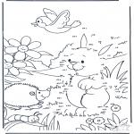 Bricolage coloriages - Points à relier 86