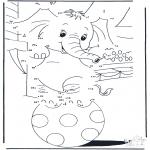 Bricolage coloriages - Points à relier 92