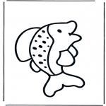 Coloriages d'animaux - Poisson 1