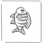 Coloriages d'animaux - Poisson 2