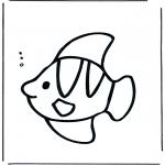 Coloriages d'animaux - Poisson sous l'eau