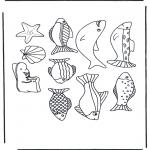 Coloriages d'animaux - Poissons divers