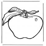 Coloriages faits divers - Pomme 1