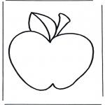 Coloriages faits divers - Pomme 2