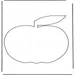Coloriages faits divers - Pomme 3