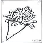 Coloriages pour enfants - Pommes frites