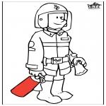 Coloriages faits divers - Pompier