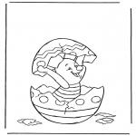 Personnages de bande dessinée - Porcinet dans loeuf de Pâques
