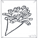 Coloriages faits divers - Portion de frites