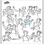 Coloriages faits divers - Postures de ballet
