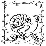 Coloriages d'animaux - Poule 2