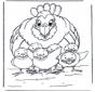 Poule avec poussins