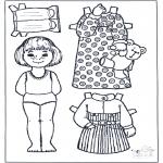 Bricolage coloriages - Poupée à habiller 5