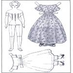 Bricolage coloriages - Poupée d'habiller et vêtements 1