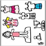 Bricolage coloriages - Poupée d'habiller et vêtements 3