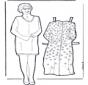 Poupée dhabiller grandmère