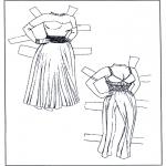 Bricolage coloriages - Poupée d'habiller - vêtements 1