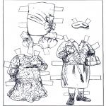 Bricolage coloriages - Poupée d'habiller - vêtements 2