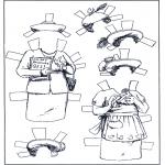 Bricolage coloriages - Poupée d'habiller - vêtements 5