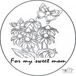 Bricolage coloriages - Pour Maman
