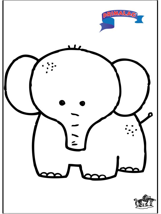 Primalac - éléphant - Coloriages animaux