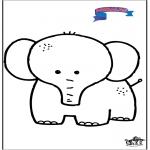 Coloriages pour enfants - Primalac - éléphant