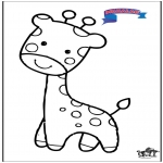 Coloriages d'animaux - Primalac girafe