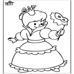 Coloriages faits divers - Princesse 4