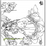 Coloriages faits divers - Princesse 6