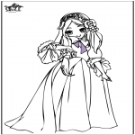 Coloriages faits divers - Princesse 7