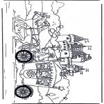 Coloriages faits divers - Princesse dans la carrosse