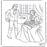 Coloriages faits divers - Princesse et prince 1
