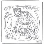 Coloriages faits divers - Princesse et prince 3