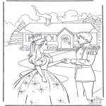 Coloriages faits divers - Princesse et prince 4