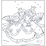Coloriages faits divers - Princesses 1