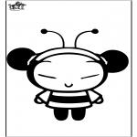 Personnages de bande dessinée - Pucca l'abeille
