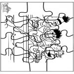 Bricolage coloriages - Puzzle 1, rue Sésame