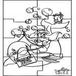 Bricolage coloriages - Puzzle - Ariel