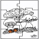 Bricolage coloriages - Puzzle - Automne
