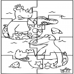 Bricolage coloriages - Puzzle - Babar
