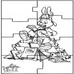 Bricolage coloriages - Puzzle Bobo
