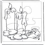 Bricolage coloriages - Puzzle bougies