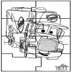 Bricolage coloriages - Puzzle Cars
