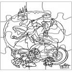 Bricolage coloriages - Puzzle - Cendrillon