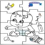 Coloriage thème - Puzzle de bébé 2