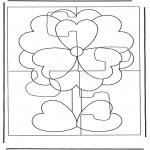 Bricolage coloriages - Puzzle fleur