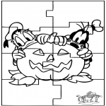 Bricolage coloriages - Puzzle Halloween