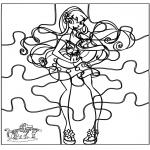 Bricolage coloriages - Puzzle Winx